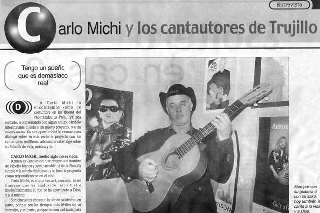 y Hay mas de Lo dice la Prensa...grandes, Cantautores  2  via Carlo Michi!!!!