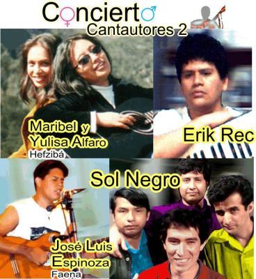 Cantautores 2: Hefziba, SolNegro, Erik Rec y Jose Luis