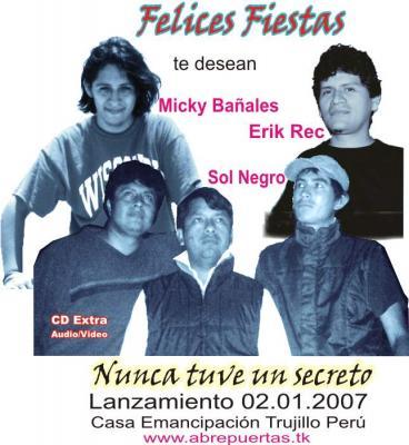 Micky, Erik, Sol Negro: Nuevo AÑO, Nuevo CD, Nuevas Canciones