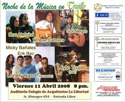 Conciertazo en Abril: La Noche de la Musica en Trujillo