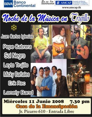 NOCHE de la MUSICA EN Trujillo: Concierto 2, el 11 junio