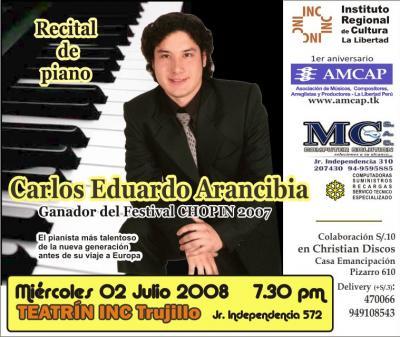 CARLOS ARANCIBIA: Piano Talento en vivo