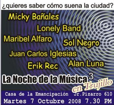 Noche de la Musica 3: Sonidos actuales de la Ciudad